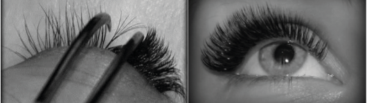 Eyelashes extension in Volume method